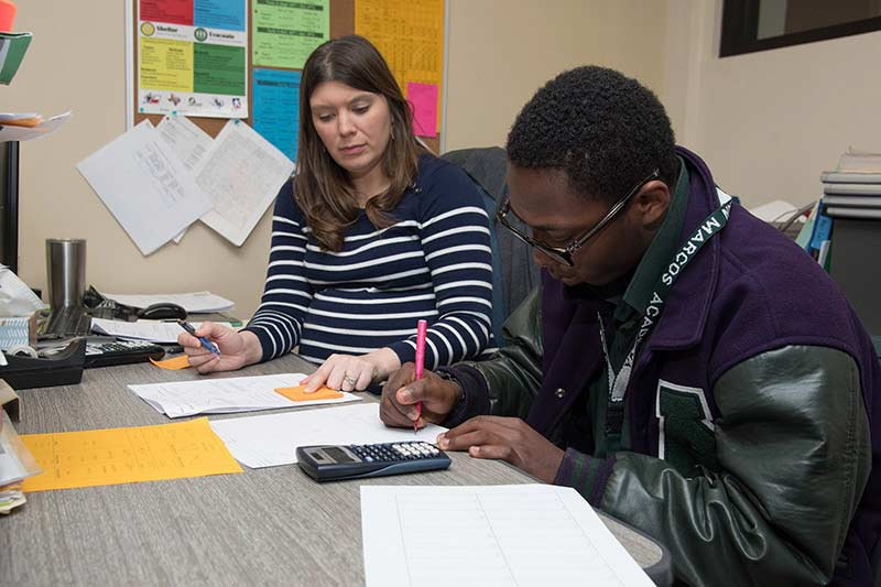 A student in the accommodated learning program at our college prep school in Texas