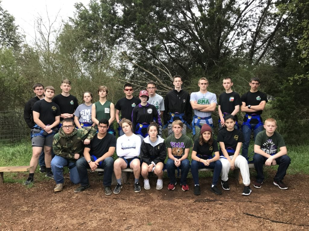 JROTC students posing for a group photo