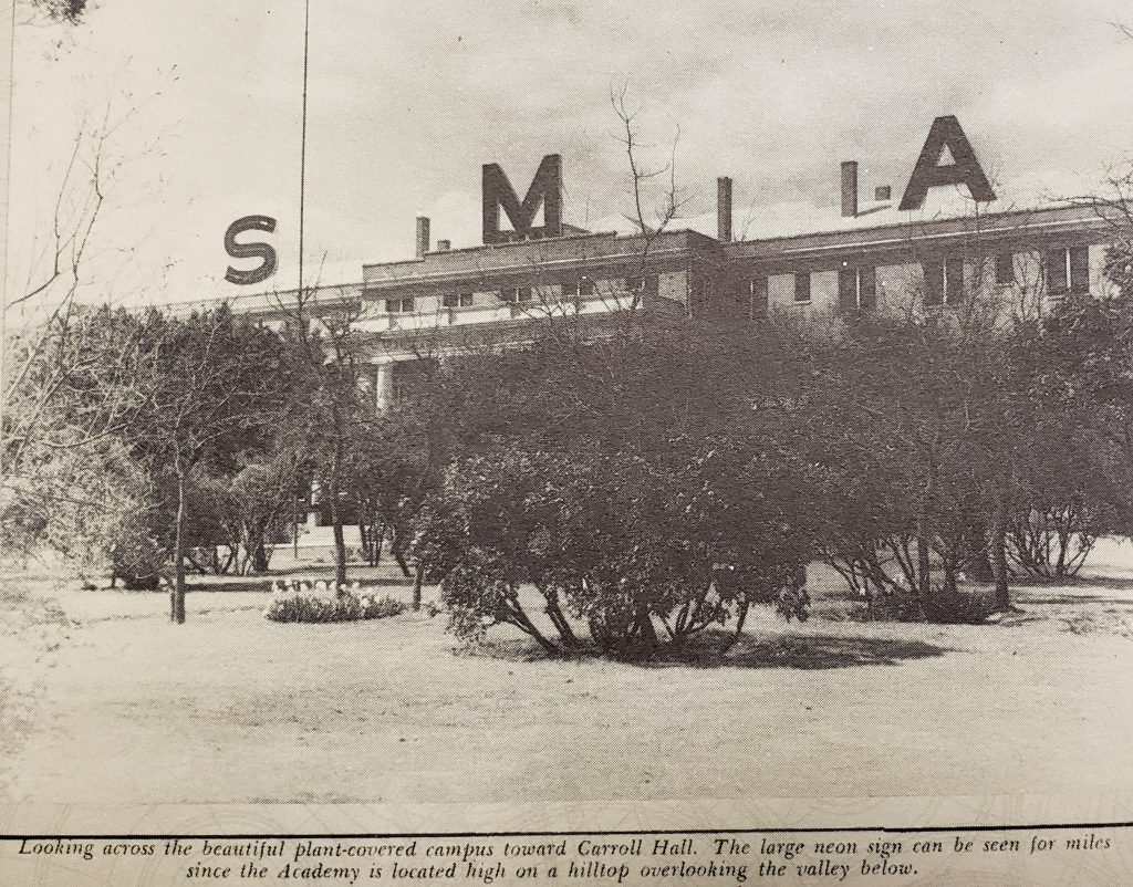 Carroll Hall at SMA as it looked in 1938.