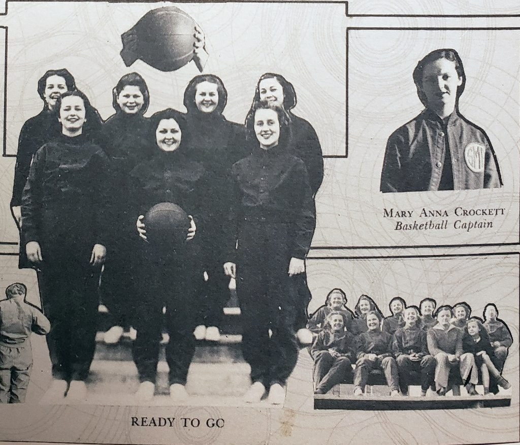 Mary Anna was captain of the girls basketball team.
