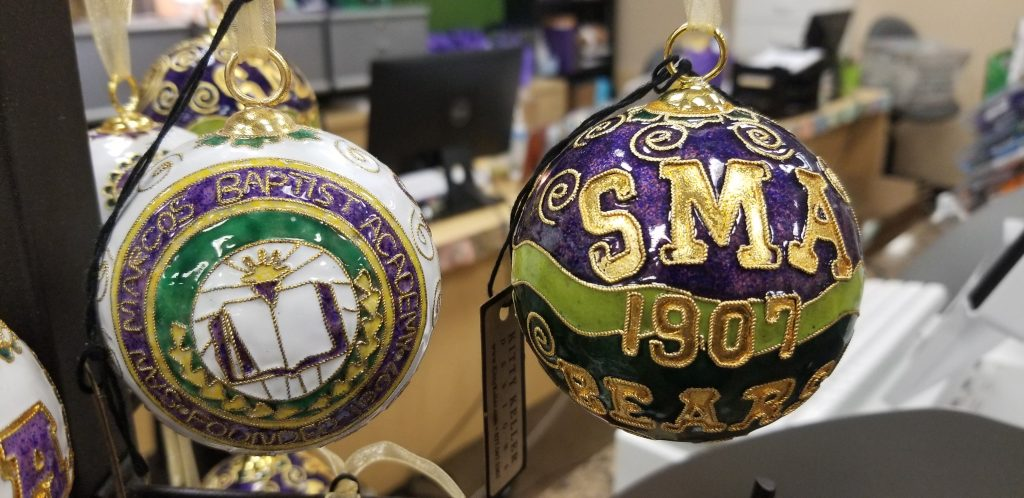christmas shopping ornaments