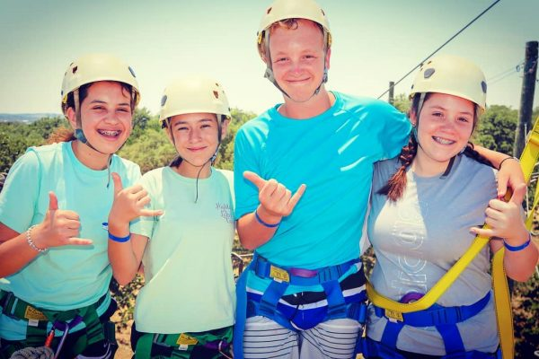 Students gear up for ziplining