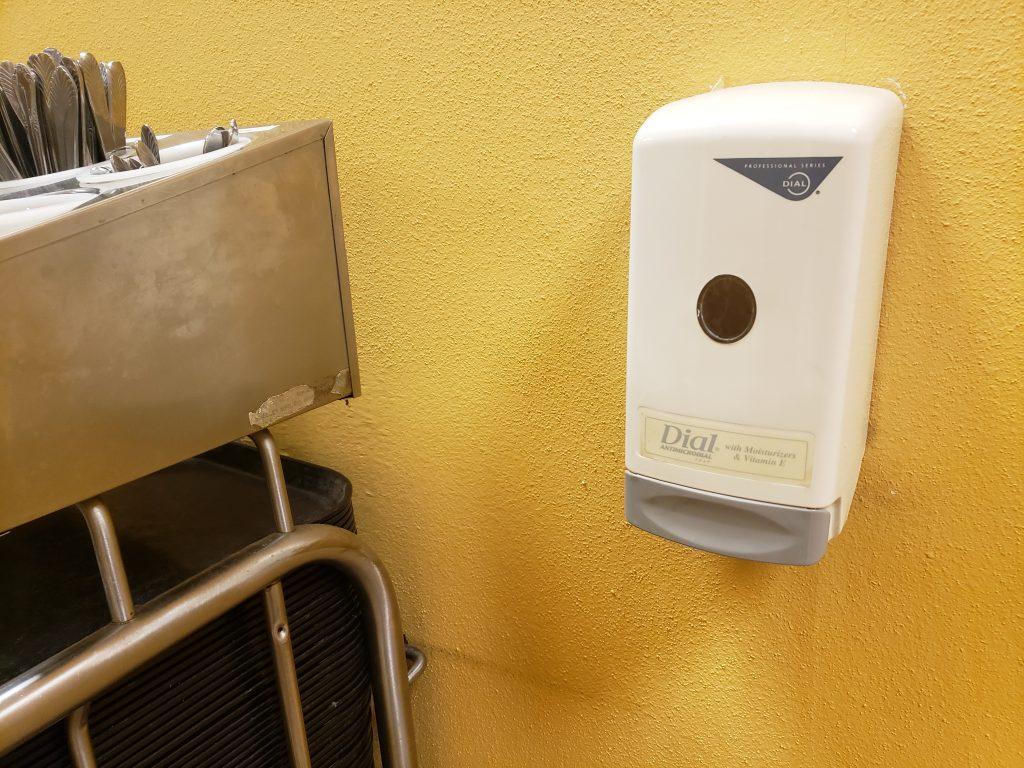 A soap dispenser at our Texas school