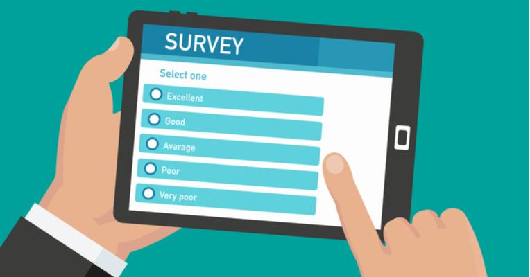 Illustration of a survey on a tablet
