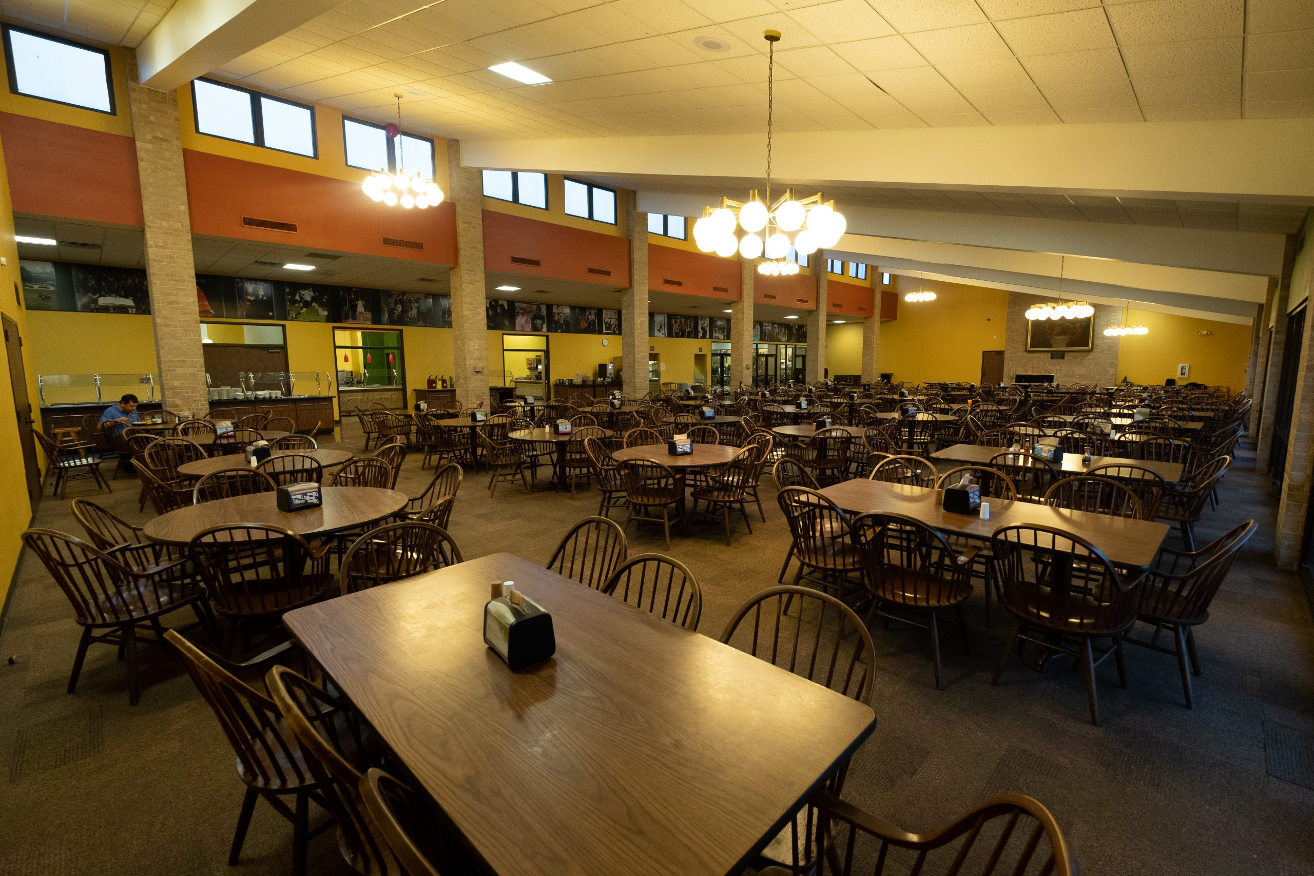 Seating area in the dining hall