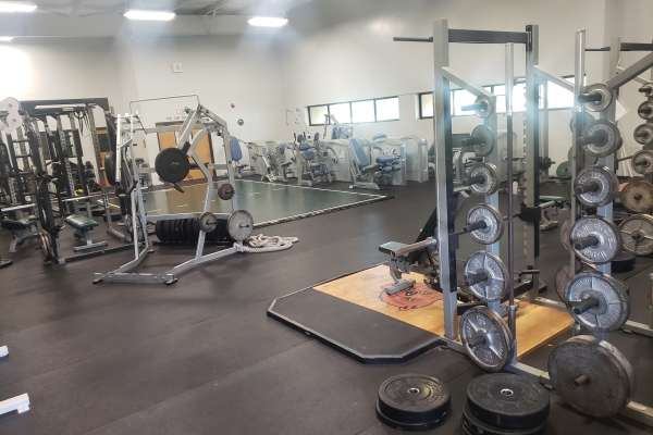Various exercise equipment inside Mafrige Fitness Center