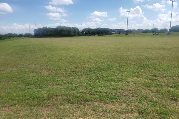 Open field perfect for a Texas summer camp