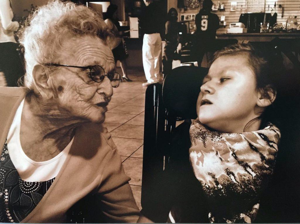 Centenarian and great-granddaughter