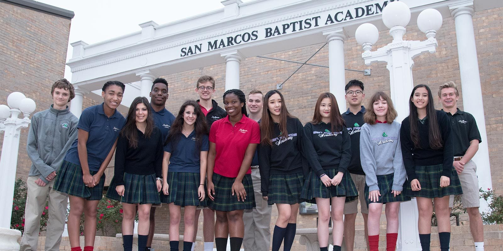 Students at San Marcos Academy Texas School